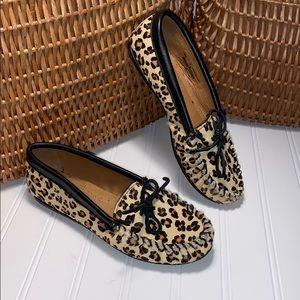 Minnetonka Leopard Print Loafers